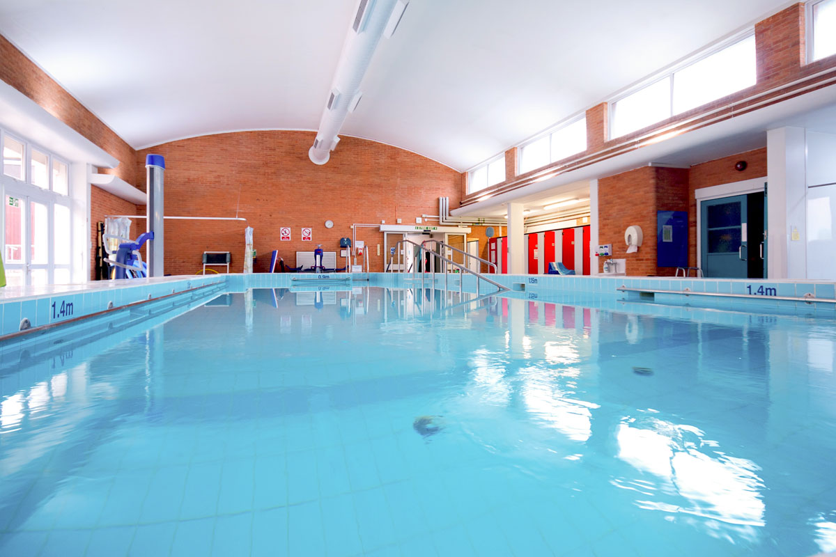 The pool at Stoke Mandeville Hospital, Aylesbury, Buckinghamshire