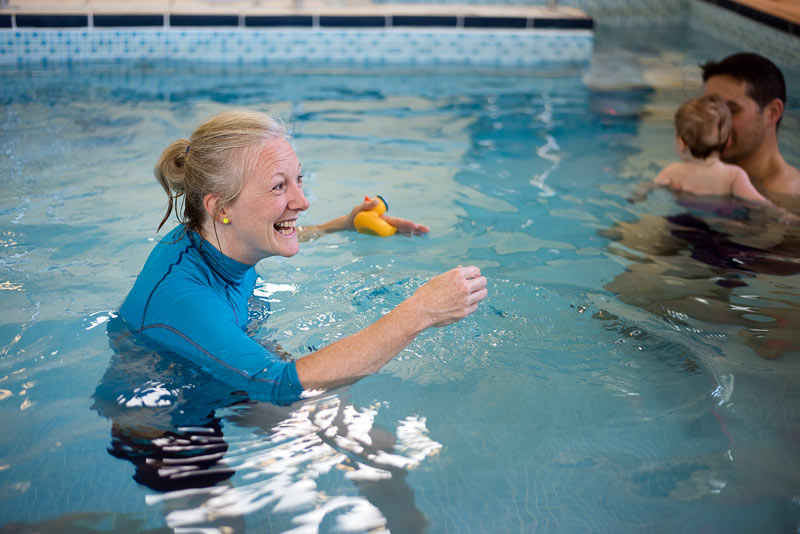 Fun classes teaching life saving skills in warm private pools